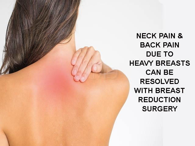 Neck pain - heavy breasts