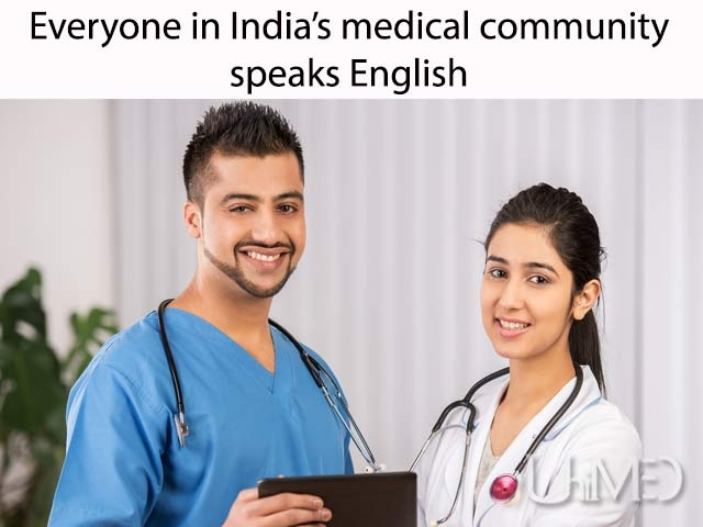Languages spoken at Indian hospitals