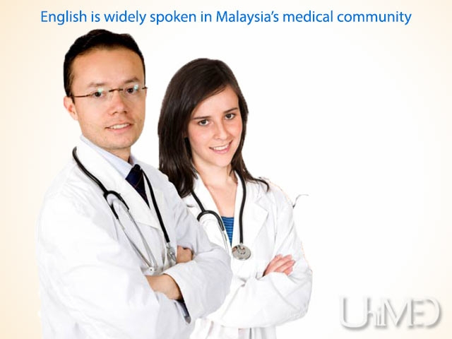 Malaysian doctors speak good English